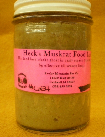 Heck's Muskrat Food Lure 4oz. #654